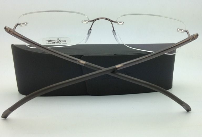 New SILHOUETTE Eyeglasses ZENLIGHT 7638 6056 53-21 Brown w/ Clear Demo lenses