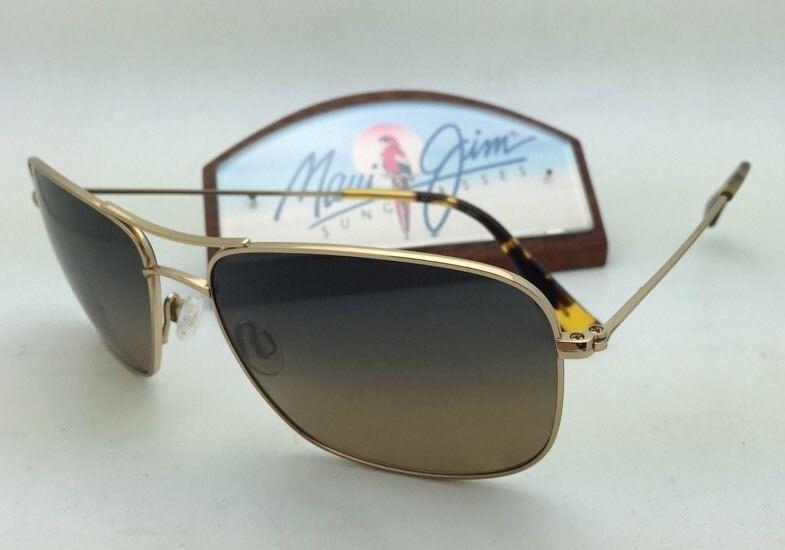Polarized MAUI JIM Sunglasses WIKI WIKI MJ 246-16 Gold Frame w/HCL Bronze Lenses