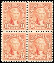 590, Mint 9¢ VF OG NH Block Of Four Stamps Cat ... - $25.00