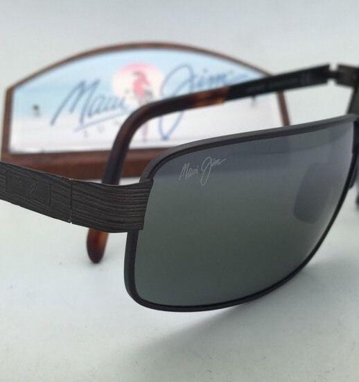 Polarized MAUI JIM Sunglasses CASTAWAY MJ 187-01M Matte Choco Brown w/ Grey Lens