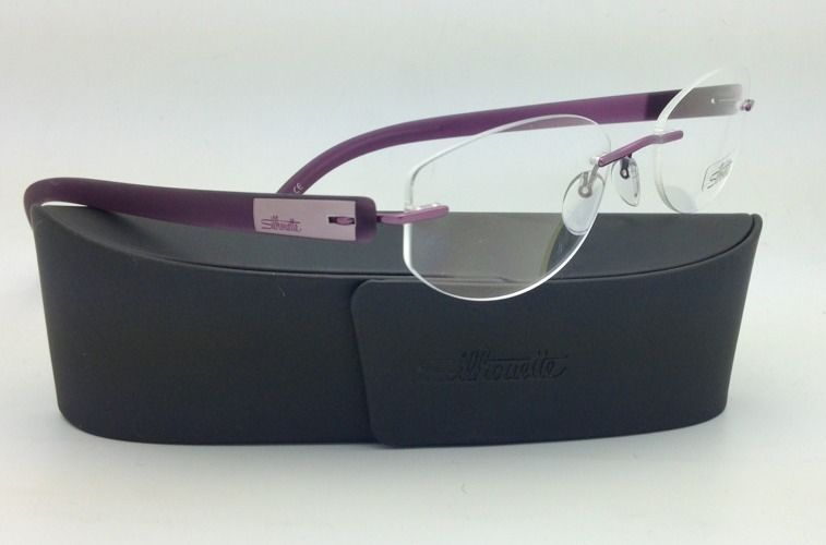 New SILHOUETTE Eyeglasses ENVISO 6665 6056 51-19 Purple Haze w/ Clear lenses