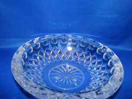 Vintage Heavy Crystal Clear Collector's Ashtray - $11.00