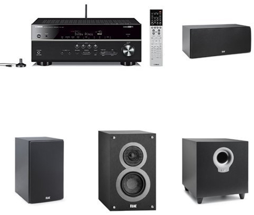 home theater system receiver 7 2 channel surround sound 5 1 speaker system black home theater. Black Bedroom Furniture Sets. Home Design Ideas