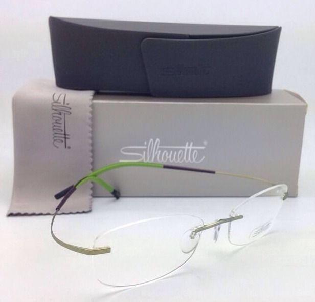 New! SILHOUETTE Rimless Eyeglasses TITAN MINIMAL ART 7581 6637 6053-Green Frames