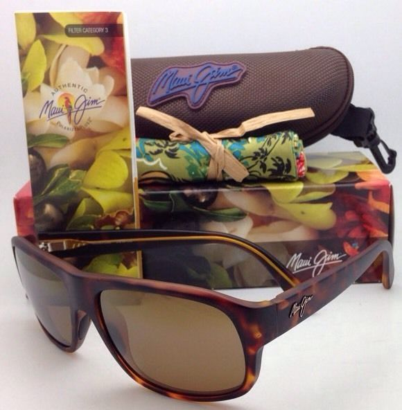 New MAUI JIM Sunglasses FREE DIVE MJ 200-10M Matte Tortoise w/ Bronze Polarized