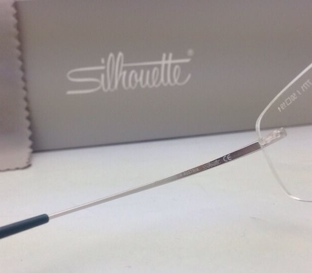 New SILHOUETTE Rimless Eyeglasses TITAN MINIMAL ART 7581 7771 6060 Grey - Blue
