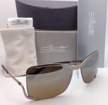 SILHOUETTE Sunglasses 8140 40 6221 Matte Cream Frames w/Brown Gradient Lenses image 3