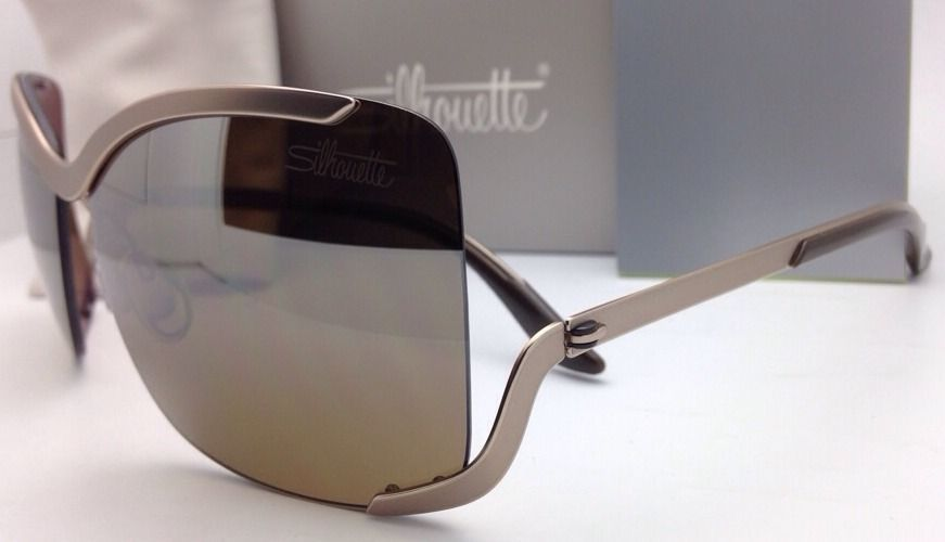 SILHOUETTE Sunglasses 8140 40 6221 Matte Cream Frames w/Brown Gradient Lenses image 5