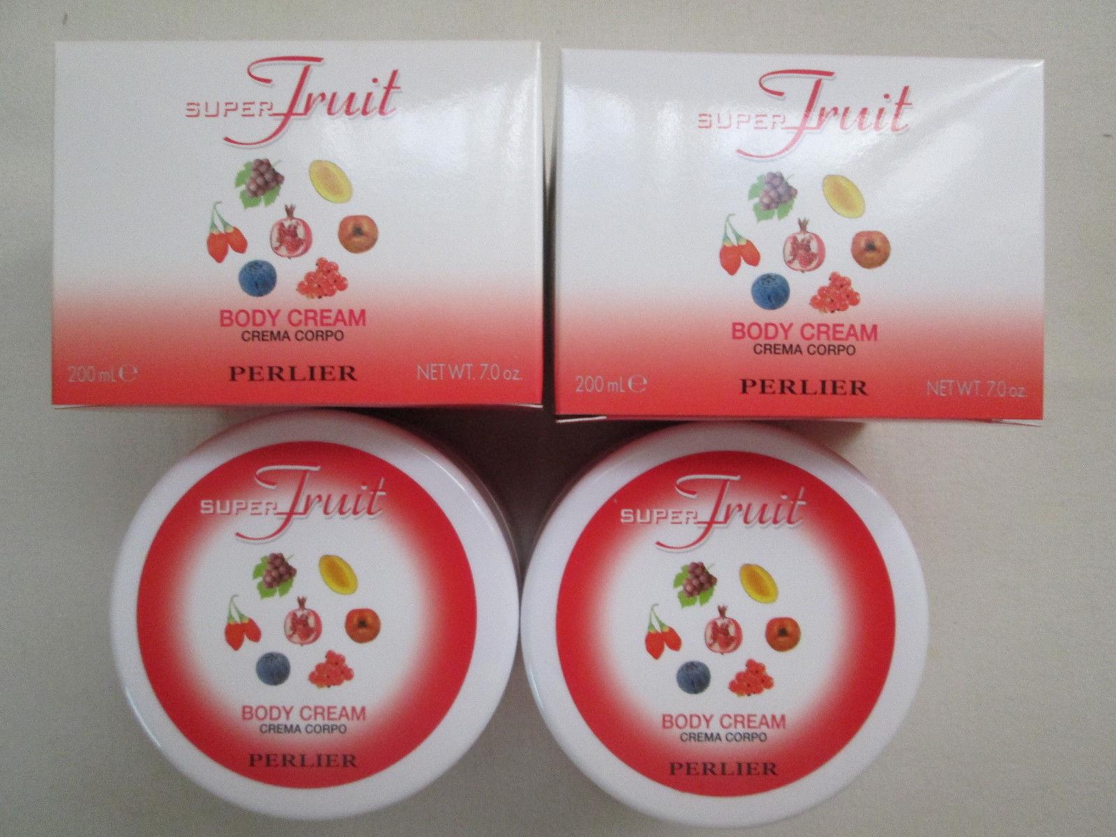 2 Perlier ~SUPER FRUIT~ Body Cream 7oz Boxed, Sealed
