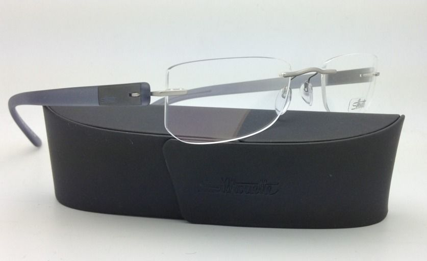 New SILHOUETTE Eyeglasses ENVISO 7679 6060 55-21 Concrete Grey w/ Clear lenses