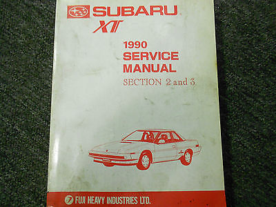 1990 Subaru XT Service Repair Workshop Shop Manual Set Factory OEM Subaru XT