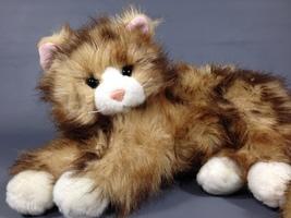 Ty Classic Beanie Buddy JUMBLES Persian Plush Cat PINK EARS Stuffed Anim... - $59.00
