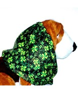 Dog Snood Four Leaf Clovers Gold Glitter Cotton by Howlin Hounds Puppy R... - $10.50