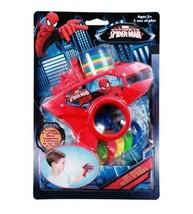6pc Marvel Comics Spiderman Soft Foam Disc Shooter Blue Blaster - $12.19