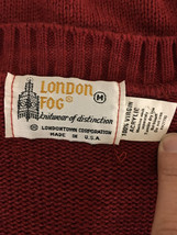 London Fog Red Vest Cable Knit Men's Medium Made in USA image 5