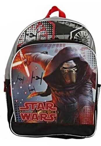 "Primary image for Licensed Star Wars The Force Awakens KYLO REN 16"" Backpack NWT"