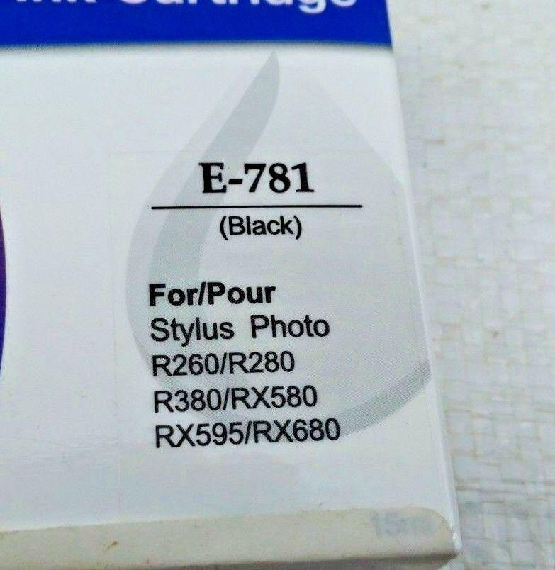 5 x Ink Cartridge Generic Epson Black E-781