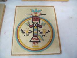 "Navajo Sand Art Painting Circle of Strength, 5.5"" x 4.5"" Free Shipping S3 - $19.79"