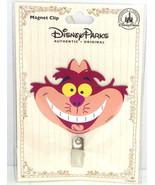 Disney Cheshire Cat Magnet Clip Refrigerator Theme Parks Alice Wonderlan... - $16.95