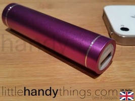 Iphone/Samsung/Nokia Portable Power Bank Booster/Travel Charger Pale Purple - $6.01
