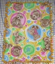 "Boyds Bears Fleece Baby Blanket Pink Blue Pet Lap Security 30"" x 24""  - $39.95"