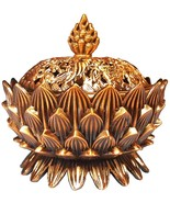 LOTUS INCENSE BURNER  - BRASS - $22.99