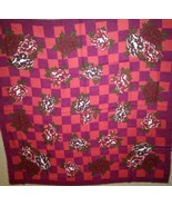 JP Collections Shades of Red Plum and White Large Scarf - $14.65