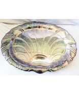 VTG 1847 Rogers Neptune signed Large Silverplate footed serving Tray shell - $38.61