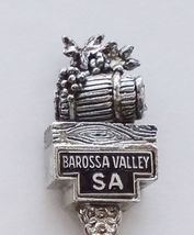 Collector Souvenir Spoon Australia Barossa Valley Wine Barrel Grapes 3D ... - $18.99