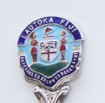 Collector Souvenir Spoon Fiji Lautoka Coat of Arms Cloisonne Emblem - $18.99