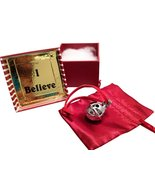 Miniature Santa Sleigh Bell #1 Silver Chrome in I Believe Box Help an An... - $49.49