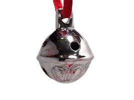 Miniature Santa Sleigh Bell #1 Silver Chrome in I Believe Box Help an Angel G... image 2
