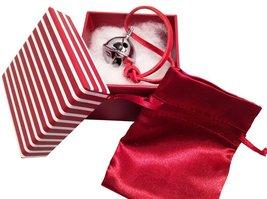 Miniature Santa Sleigh Bell #1 Silver Chrome in I Believe Box Help an Angel G... image 3