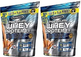 MuscleTech Premium Deluxe Chocolate Whey Protein 2 Body Build 12 lbs Zip... - $85.13