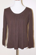 Gap Maternity Size Small Brown Scoop Neck Long Sleeve Cotton Blend Top - $9.49