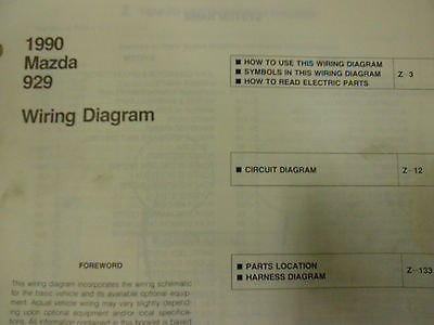 1990 Mazda 929 Electrical Wiring Diagram And 50 Similar Items