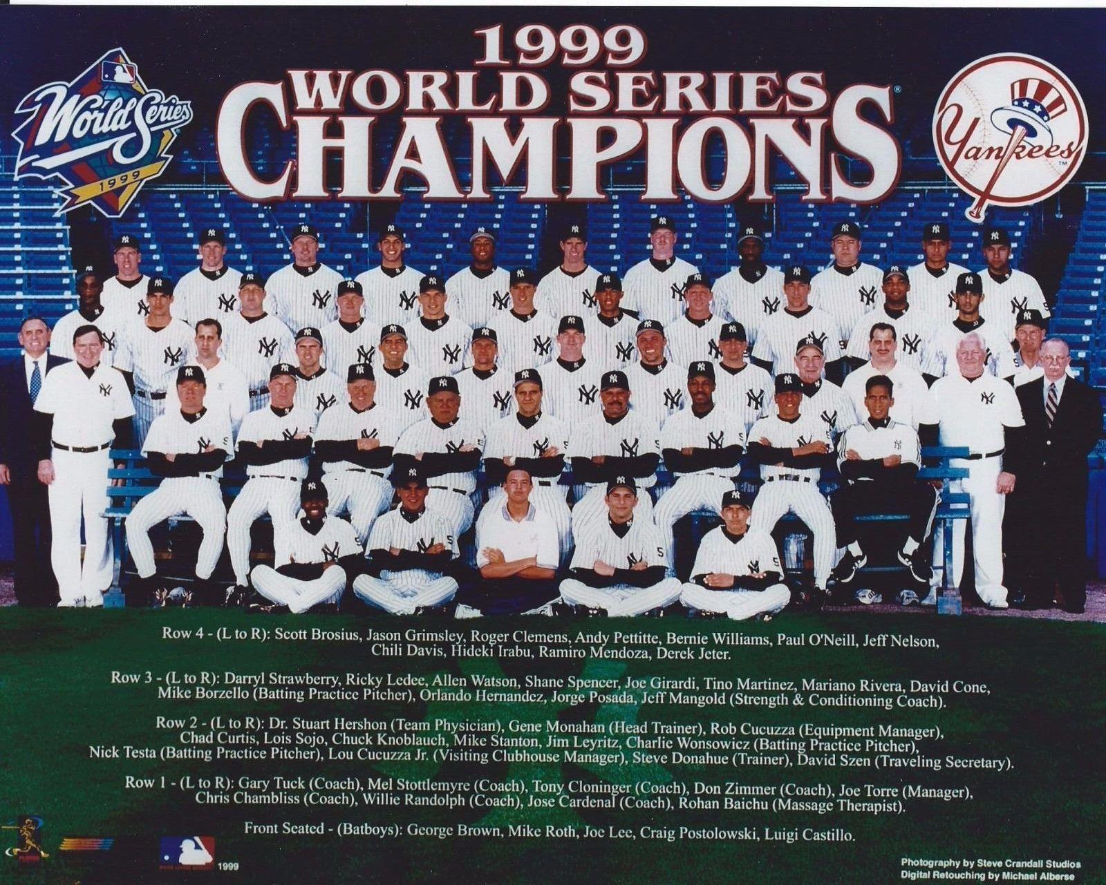 1996 World Champions Team Photo 11x14 Size Yankee Stadium New York Yankees