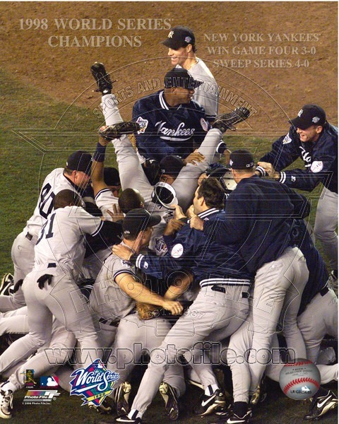 Primary image for New York Yankees 1998 World Series Celebration Vintage 8X10 Color Baseball Photo