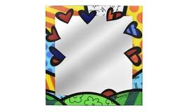 """Romero Britto Mirror Glass Wall Decor A New Day Design 24"""" x 24"""""""