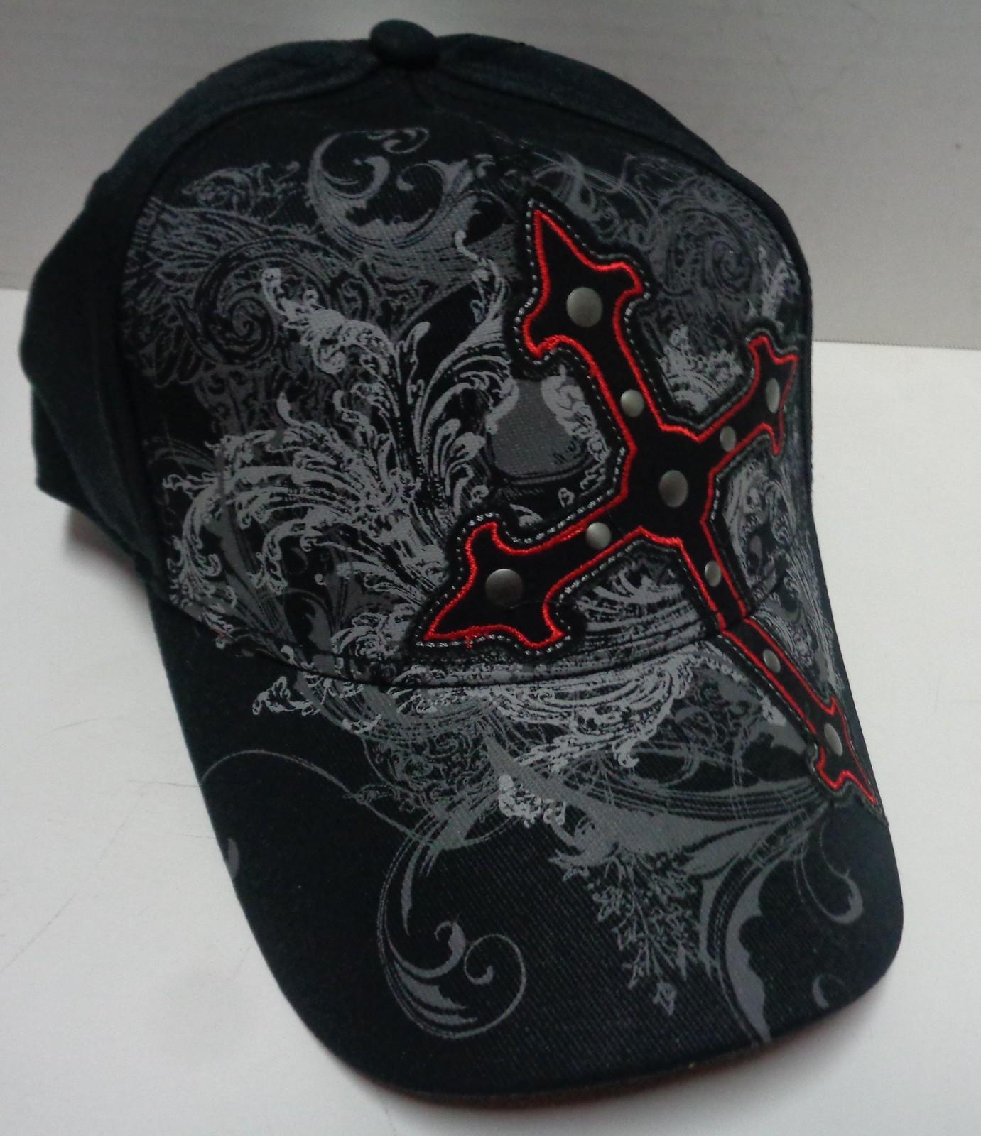 Explicit Black Cross Cap Hat NWT One Size