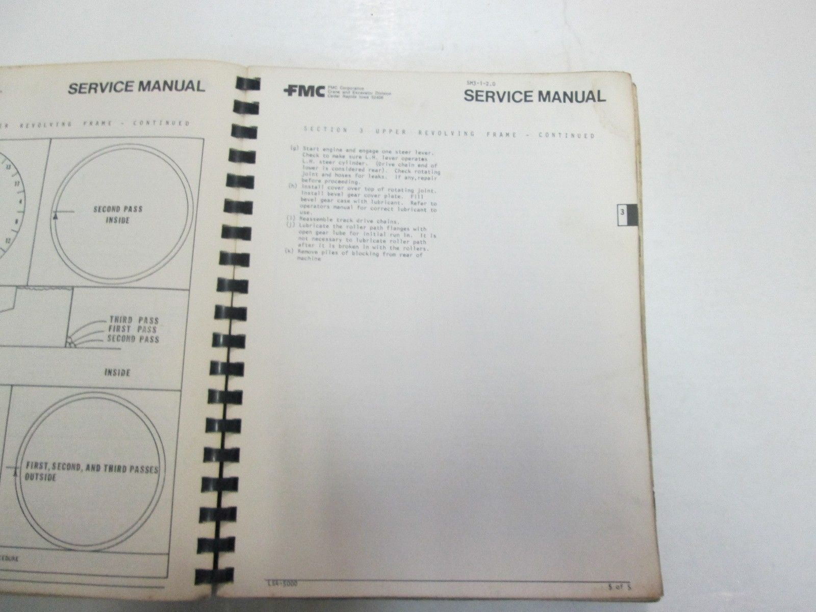 FMC LS4-5000 SM 4 5 6 7 Operators & Maintenance Manual DAMAGED STAINS WORN OEM
