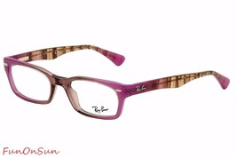 Ray Ban Eyeglasses RB5150 5489 Antique Pink Brown Rectangle Frame 50mm Authentic - $77.59