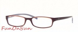 Ray Ban Eyeglasses RB5089 2213Brown Burgundy Rectangle Frame 50mm Authentic - $77.59