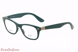 Ray Ban Eyeglasses RB7032 5436 Blue Rectangle Frame 52mm Liteforce Made Italy - $106.69