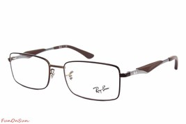 Ray Ban Eyeglasses RB6284 2758 Matte Brown Rectangle Frame 53mm Authentic - $77.59