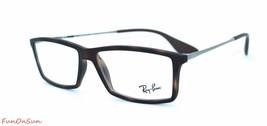 Ray Ban Eyeglasses RB7021 5365 Matte Havana Rectangle Frame 52mm Authentic - $96.99