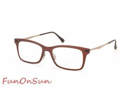 Ray Ban Eyeglasses RB7039 5450 Matte Brown Rectangle Frame 53mm Authentic Italy - $96.99