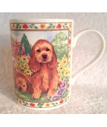 Adorable Queen's Fine Bone China Puppy Dogs Tea Coffee Cup Mug England V... - $12.95