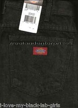 Mens Pants Dickies Denim Jeans ~BLACK~ Size 32 X 32 NWT - $19.75