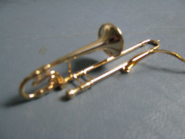 Musical  Instrument Ornament  BRASS TROMBONE - $11.83